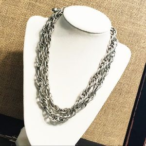 White House Black Market • textured Chain Necklace